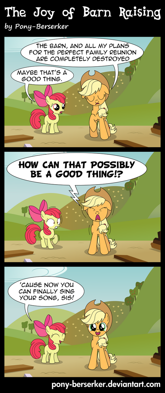 The Joy of Barn Raising by Pony-Berserker
