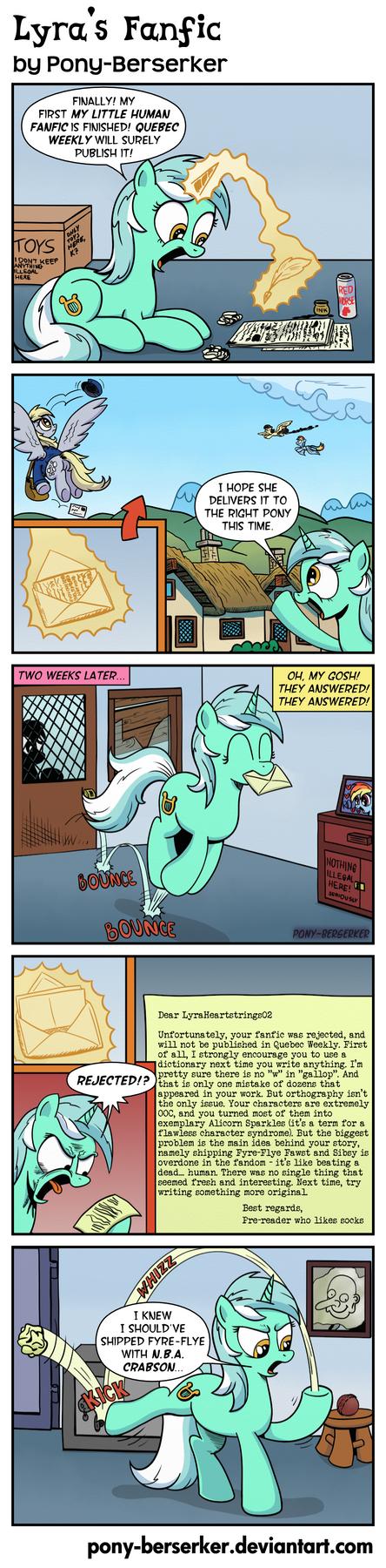 Lyra's Fanfic by Pony-Berserker