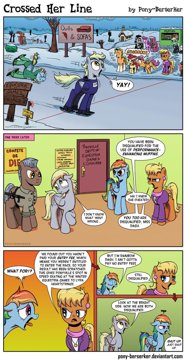 Crossed Her Line by Pony-Berserker
