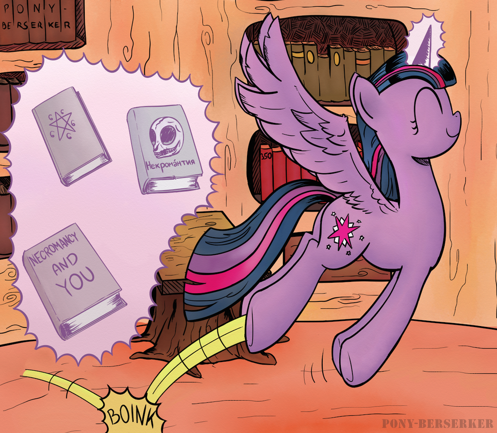 Rainbownomicon by Pony-Berserker