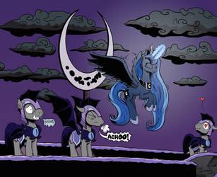 Freeze No Evil, Sneeze No Evil, Be No Evil by Pony-Berserker