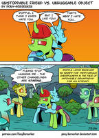 Unstoppable Friend vs. Unhuggable Object by Pony-Berserker