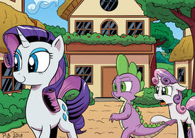 <b>Spike Looking At The Other Girl</b><br><i>Pony-Berserker</i>