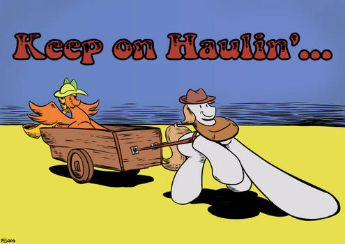 Keep on Haulin'... (a parody of R Crumb's style)