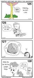 Random sketches 125-128 by Pony-Berserker