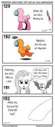 Random sketches 129-132 by Pony-Berserker
