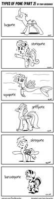 Types of Pone (Part 2) by Pony-Berserker