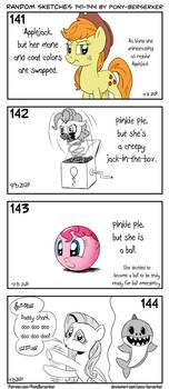 Random sketches 141-144 by Pony-Berserker