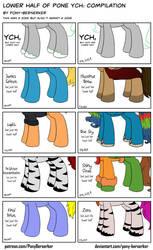 Lower Half of Pone YCH: Compilation by Pony-Berserker