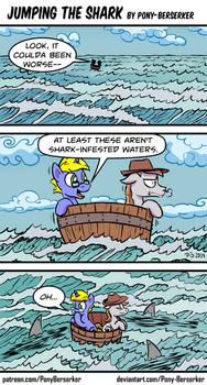 Jumping the Shark by Pony-Berserker
