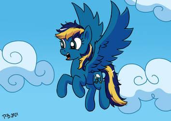 2021 Art Raffle Reward for Lesewolf_w: Skystriker by Pony-Berserker