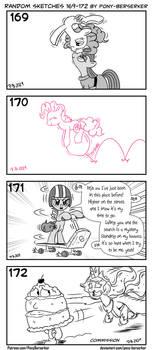 Random sketches 169-172 by Pony-Berserker