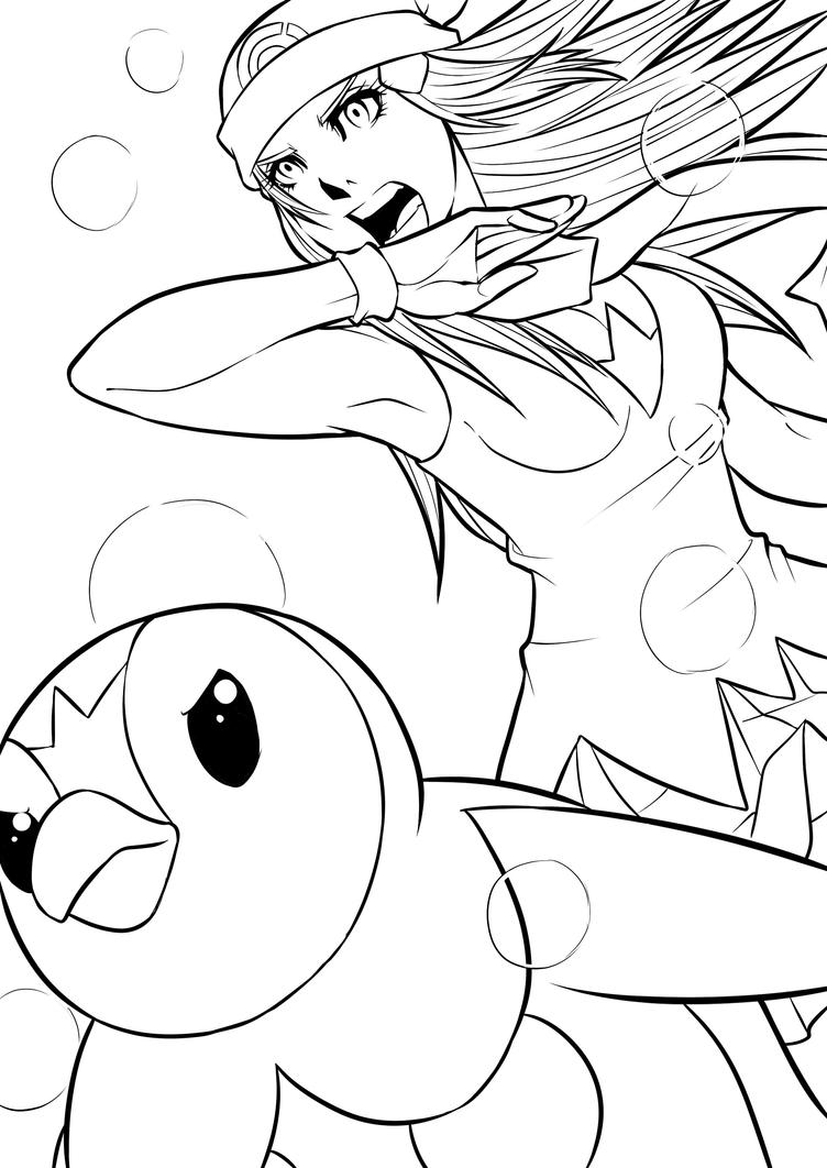 pokemon piplup coloring pages to print images pokemon images