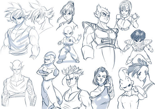 Compilation of sketches DBZ