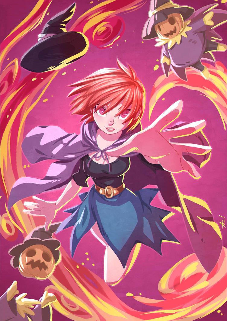 Kagura witch by alanscampos