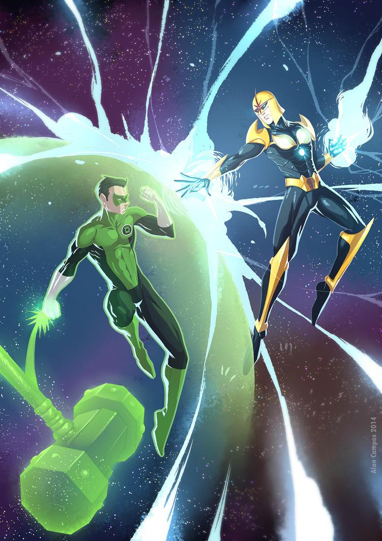 Green Lantern vs Nova by alanscampos on DeviantArt