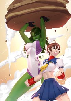 She Hulk and Sakura
