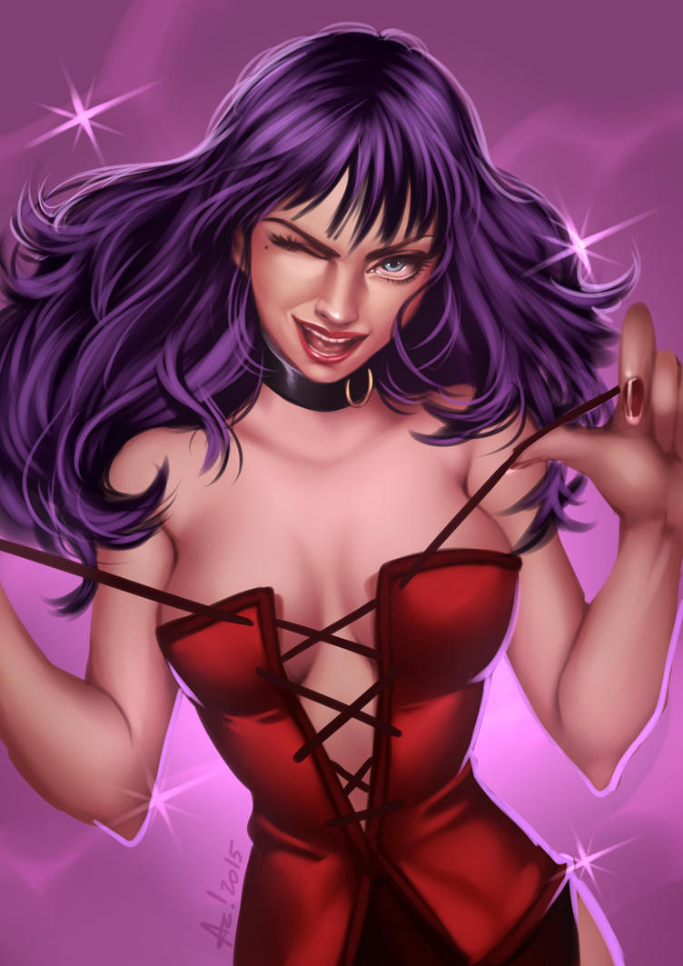 Pinup Purple Hair by alanscampos