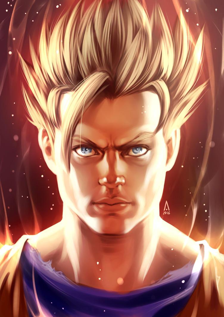 Goku SSJ DBZ by alanscampos