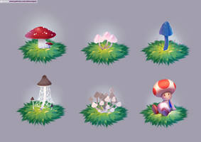 Mushrooms (pack06) by alanscampos