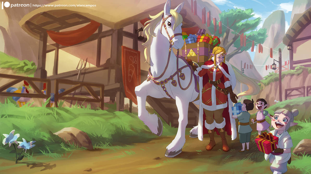 Christmas in Hyrule by alanscampos