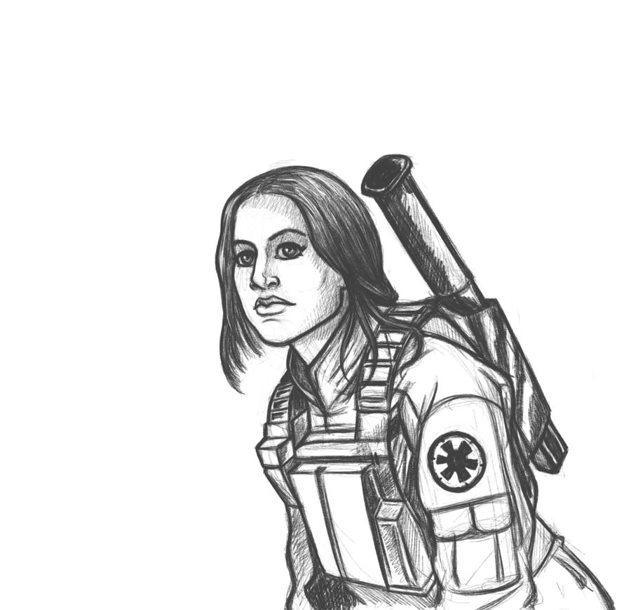 Jyn Erso Sketch by IMForeman
