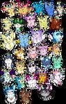 Unicats Galore by DarkEcho17