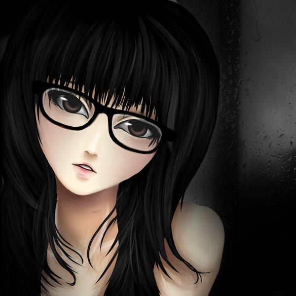 Nerd girl anime