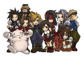 Final Fantasy VII Chibis by FinalFantasyLuvr