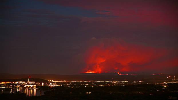 Early summer bush fires