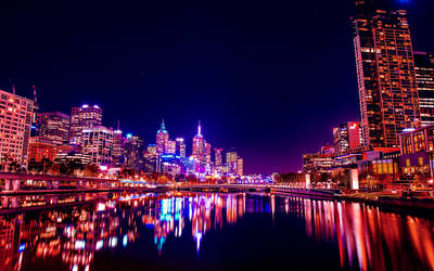 Yarra River Reflections in Melbourne city