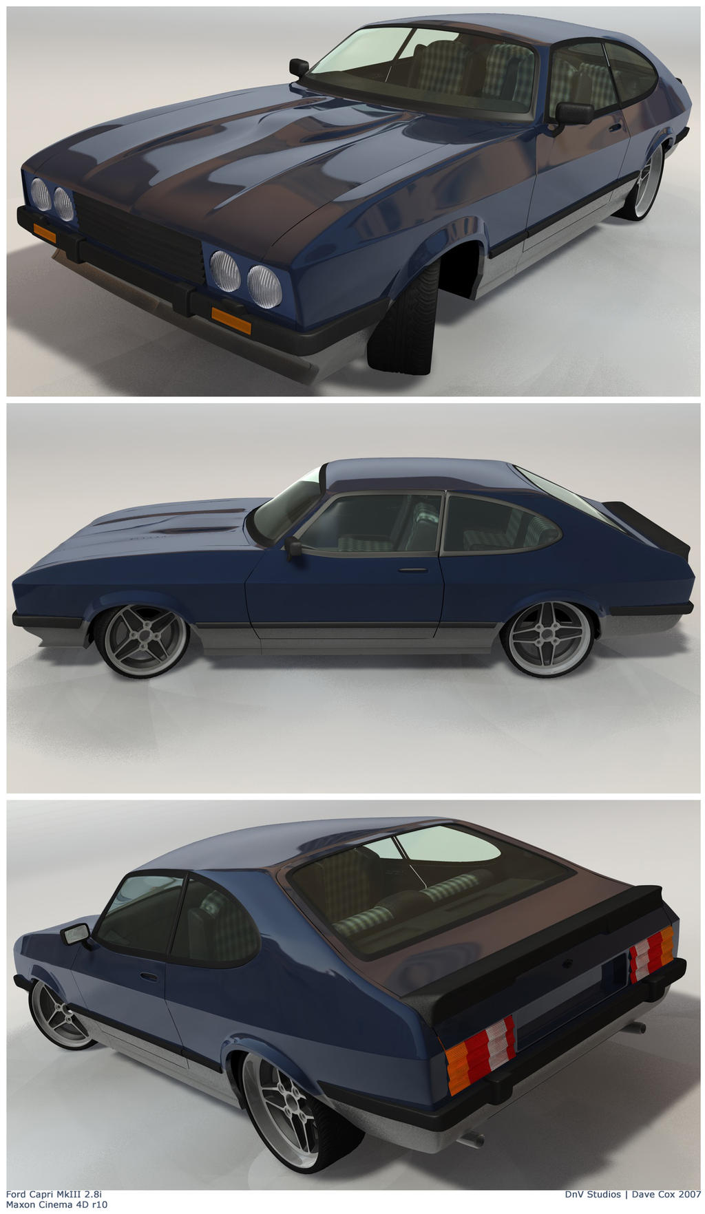 Ford Capri MkIII 2.8i in Blue