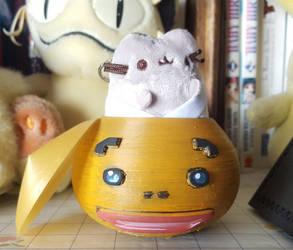 Zelda - Goron head jar V2 by Sen-Hime