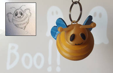 Cute bee keychain - 3D printed