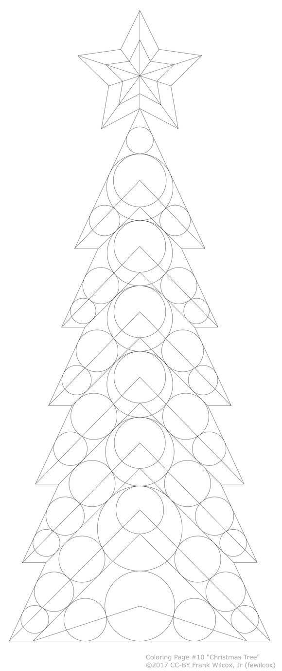 Coloring Page #10 'Christmas Tree'