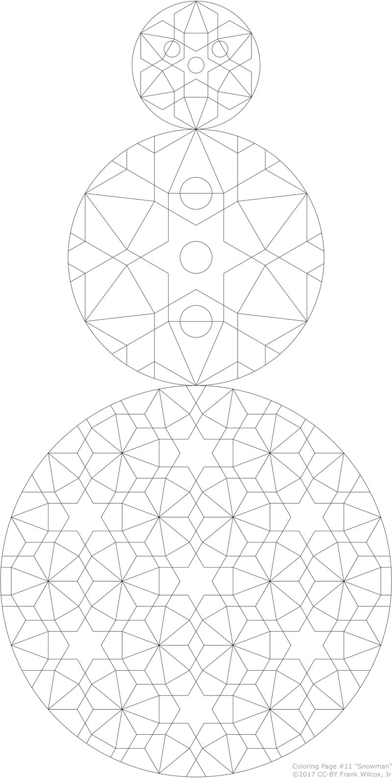 Coloring Page #11 'Snowman'