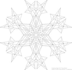 Coloring Page #13 'Snowflake'