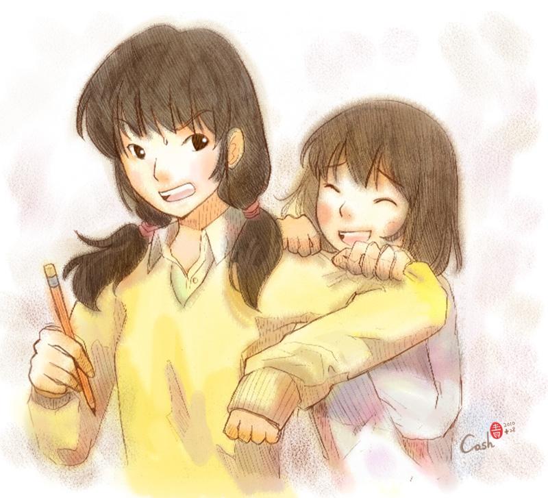 Maruko And Sakiko By Danoblong On Deviantart: [達人專欄] 姊~拜託嘛!