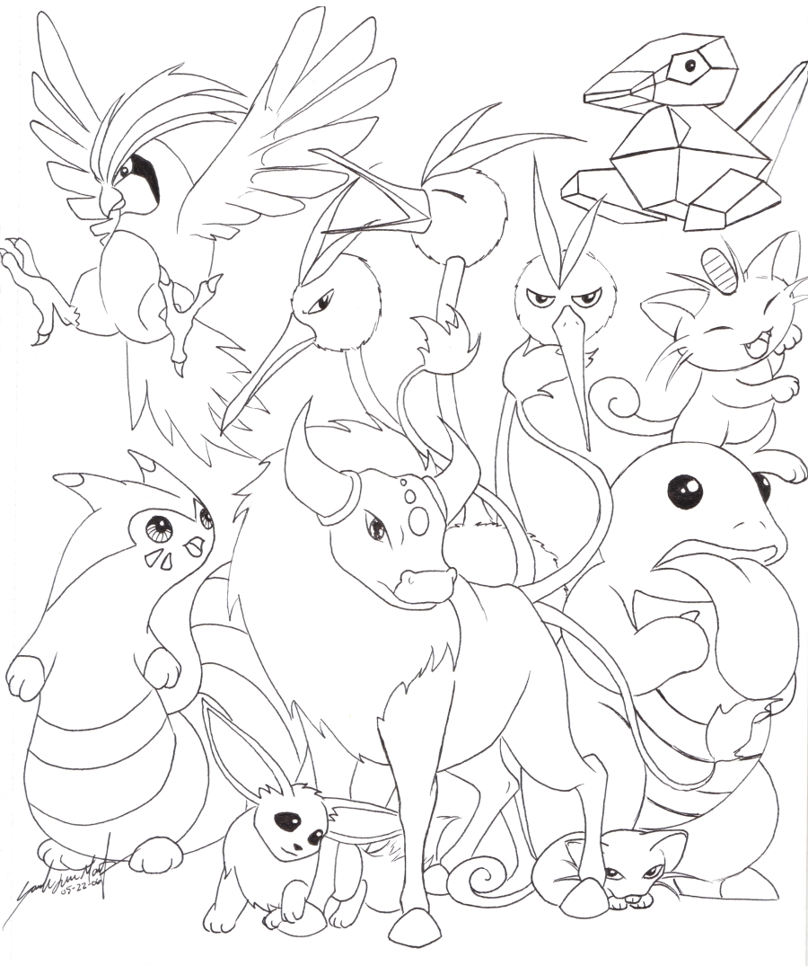 Normal type by therainedrop on deviantart for Pokemon eevee evolutions coloring pages