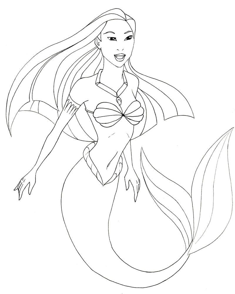 mermaid flash by xcjxedge on DeviantArt |Mermaid Line Drawing