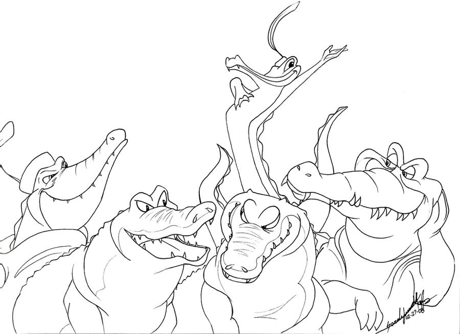 Line Art Disney : Disney croc lines by therainedrop on deviantart