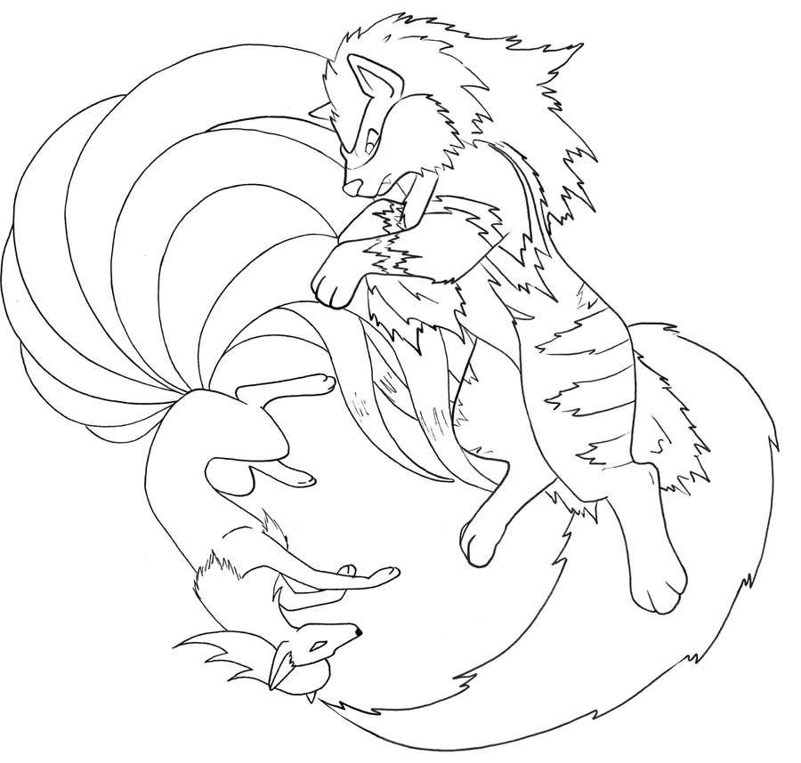 pokemon coloring pages ninetails - photo#17