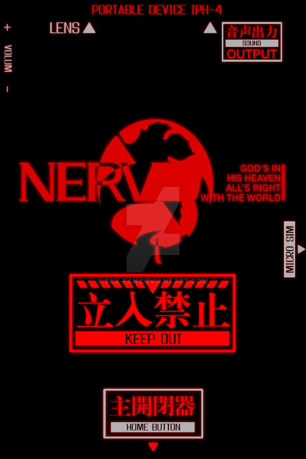 NERV Wallpaper for iPhone 4 Lock Screen by Rex-Fan