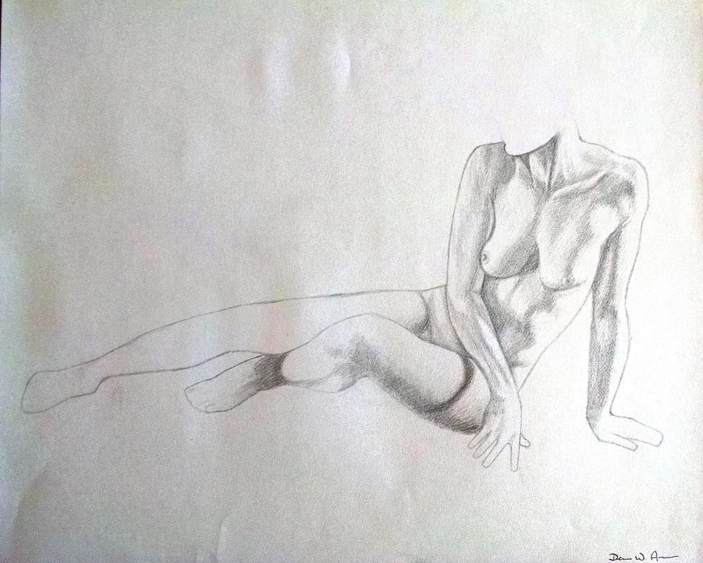 Nude Sketch by DevanAmesArt