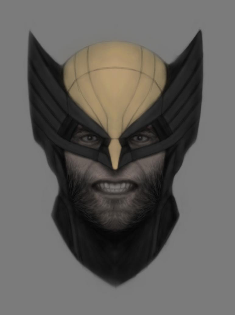 Wolverine Mask by DevanAmesArt