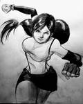 Tifa Lockhart in action by njgp