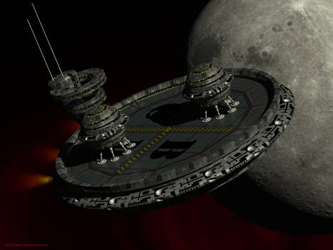 Landing Pod passing moon