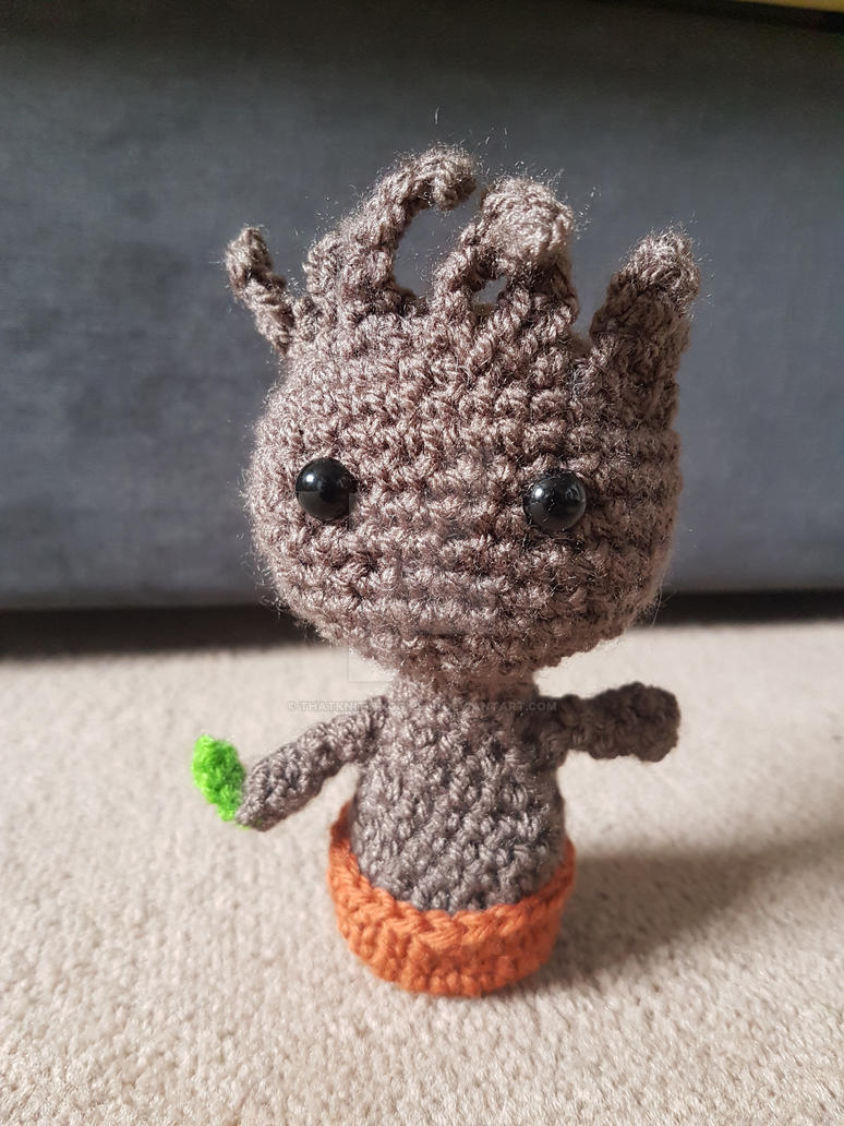 Baby Groot Knitting Pattern : Crochet Baby Groot by ThatKnittingGirl90 on DeviantArt