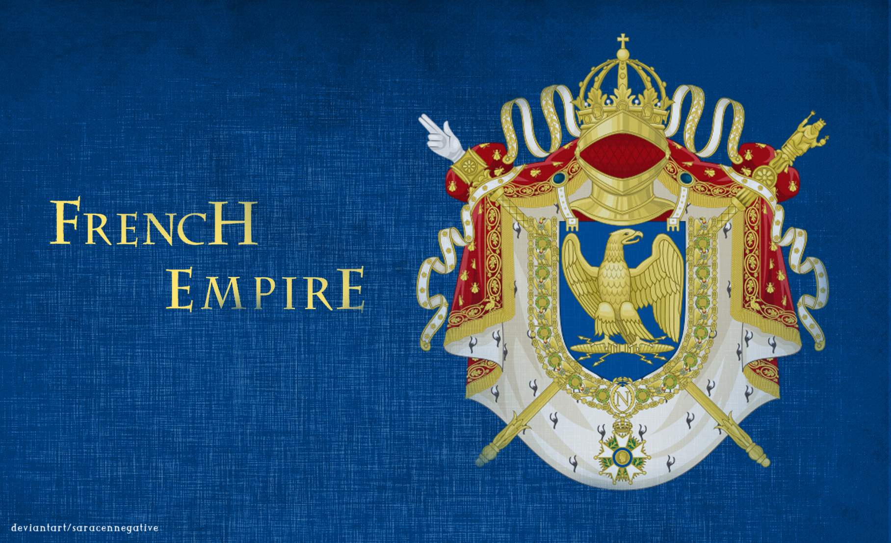 Saracennegative French Empire Coat Of Arms By