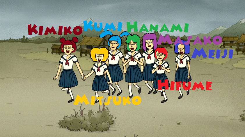 A group of School Girls (From Regular Show) by Crappedman